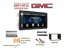 GMC SIERRA SAVANA Touchscreen Dvd Bluetooth Radio Stereo Double Din Dash Kit
