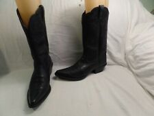 ARIAT ATS, LEATHER UPPER WESTERN COWBOY BOOTS WOMENS -GIRLS SZ 9B BLACK