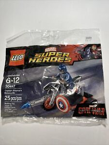 Lego 30447 Marvel Super Heroes Captain America's Motorcycle Free Shipping