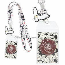 Harry Potter Hogwarts Acceptance Letter Lanyard Neckstrap W/ Owl Rubber Charm