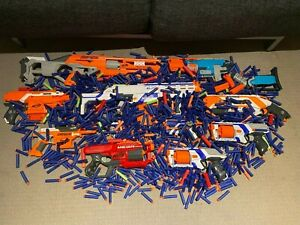 Nerf guns pack with many darts