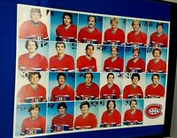 NHL MONTREAL CANADIENS MOLSON STAR-PRO 1983 BREAKFAST FOLDER LAFLEUR, ROBINSON..