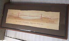 The Golden Gate Bridge Framed Joseph B. Strauss Architecture Drawing California