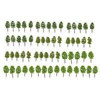 60x Model Trees Layout Train Railway Diorama Landscape Scenery 1:150 N Scale