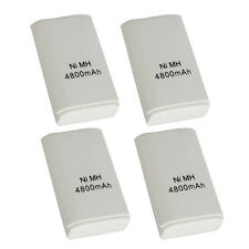 4pcs 4800mAh High Capacity Rechargeable Battery for XBOX 360 Controller White
