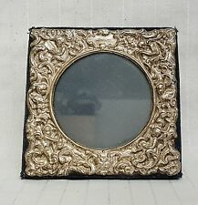 Sterling solid silver Cherub Rococo Repousse picture frame birmingham 1998