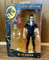 Dr. Ian Malcolm Jurassic Park World Amber Collection Action Figure New Mattel