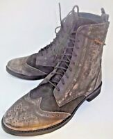 Free People Badlands Womens Granny Boots EU36 US6 Brown Leather steampunk 2807