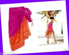Victoria's Secret Summer Love PINK ORANGE Beach Cover-Up Wrap Skirt Dress 1 SIZE