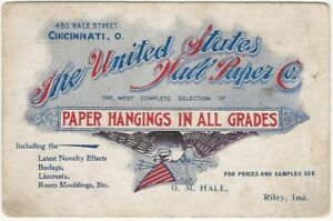 1900s United States Wall Paper Co. Wallpaper Trade Card
