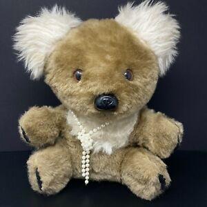 "Knickerbocker Animals Of Distinction Koala Bear Plush 15"" Gray Brown Shaggy Fur"