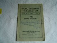 Wood Brothers Thresher Co Threshers Feeders Wind Stackers Repair Parts List Book