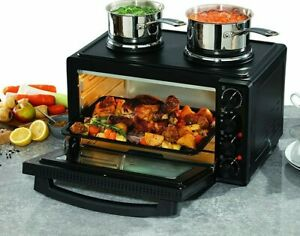 Daewoo 3000W, 32L Capacity Electric Mini Oven With Double Hot Plate 90 Min Timer