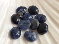1 x Natural Blue Sodalite Oval Cabochon 12mm x 10mm, Semiprecious Gemstones