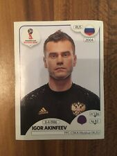 PANINI 2018 FIFA WORLD CUP RUSSIA SINGLE STICKER NUMBER 34 IGOR AKINFEEV