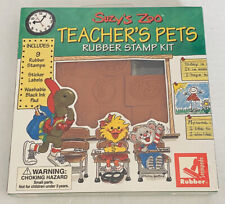 Suzy's Zoo Teacher's Pet 9 Rubber Stampede Stamp Collection Vtg Kit Set New