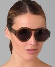 NWT Karen Walker Bunny Oversized Round Translucent Brown Grey Sunglasses