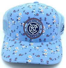 45597283853 MLS New York City FC Adidas Women s Snap Back Mesh Back Cap Hat Style  VM74W
