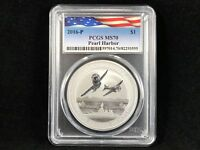 2016-P S$1 Pearl Harbor Perth Mint 1 oz. .9999 Silver PCGS MS70