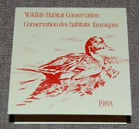 Canada Wildlife Habitat Conservation (Ducks) 1988 complete booklet