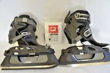 Reverse Sports Bindings with Ice skates Black Gary Size Med M 4-7 W 5.5-8.5 New