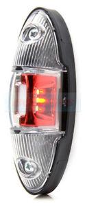 WAS W105 RED/WHITE LED REAR END OUTLINE SIDE MARKER LIGHT MARKER LAMP 12V/24V