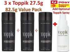 3x Genuine TOPPIK Hair Loss Building Fibers + 118ml Toppik FiberHold Spray