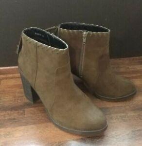 NEW LOOK Khaki Ladies Women High Heel Shoe Ankle Boot Size 8 41 Worn Once