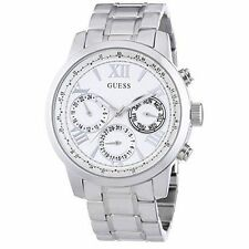 Genuine GUESS Sunrise Multifunction Stainless Steel Womens Watch W0330L3