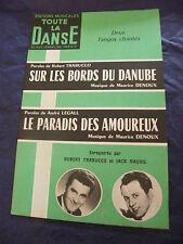 Partition Sur les bords del Decorazione Il paradiso di amoureux 1964 Music Sheet