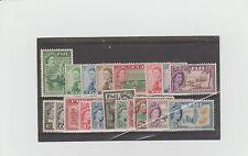 FIJI. 1954. SHORT SET TO 5/- MNH + MM. SG292a LIGHT CANC. SG281 & 302 OMITTED.