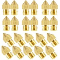 10-20Pcs 3D Printer Nozzle Accessory MK8 0.4mm For CR-10 For Ender 3 For Anet A8