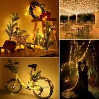 20M 200LED Solar Powered Copper Wire Light Outdoor String Fairy Lamp Xmas Decor