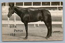 BLACK HORSE DAN PATCH ANTIQUE REAL PHOTO POSTCARD RPPC