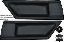 BLACK STITCH 2X REAR DOOR CARD LEATHER COVERS FITS BMW E36 COUPE 91-98 STYLE 2