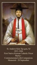 St Andrew Kim Taegon - Korean Martyrs Holy CARD (wallet size)