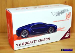 Hot Wheels id '16 Bugatti Chiron [Blue] LTD Run 2021 - New/Sealed/*XHTF* [E-808]