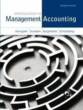 Introduction to Management Accounting by Charles T. Horngren, Jeff O....