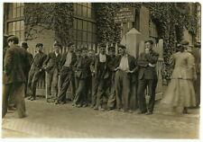"8"" x 10"" Photo 1909 Workers in Lorraine Mfg. Co. Westerly, Rhode Island"