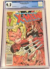 X-Men  #213 1/87 CGC 9.2 WHITE pgs NEWSSTAND ed (Wolverine vs Sabretooth)