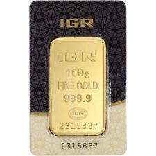100 gram IGR Gold Bar - Istanbul Gold Refinery - 999.9 Fine in Sealed Assay