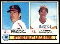 1979 Topps Set Break Mint Nolan Ryan / J.R. Richard Angels Astros #6
