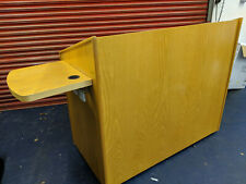 More details for solid wood lecture theatre, classroom, conference room audio visual workstation