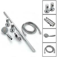 Shower Head Set Adjustable Chrome Shower Slider Riser Rail Bar Head  Set Modern