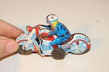 Vintage Tin Friction Motorcycle Toy Police Motorcycle made in Japan RARE M21