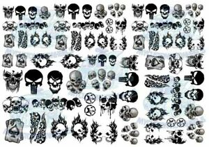 Skull Decal Pack   Decals for Model Cars in all scales from 1:64 up to 1:18