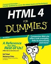 HTML 4 For Dummies (For Dummies (Computer/Tech)) Tittel, Ed, Pitts, Natanya Pap