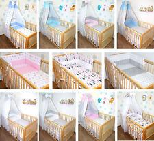 Bettset für Baby 5-20tlg  Bettwäsche Nestchen Himmelstange Sterne Dots