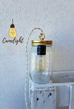 LAMPADA DA TAVOLO stile vintage barattolo vetro bormioli + lampadina a LED