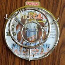 Stainless Steel Chick Can Rack Grill w/ your Favorite Beer - Soda Beer Can Chick